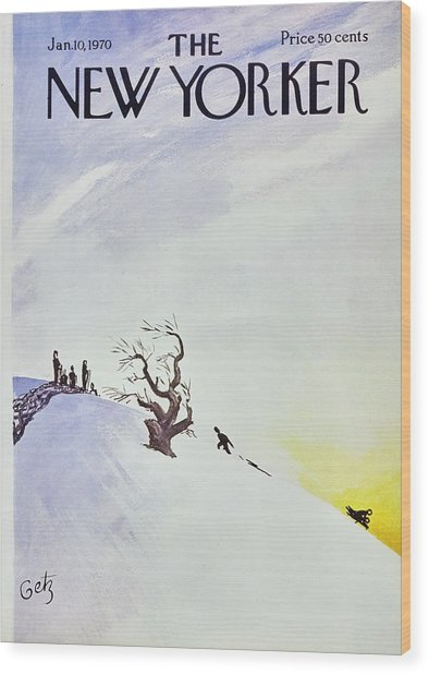 New Yorker January 10th 1970 Wood Print by Arthur Getz