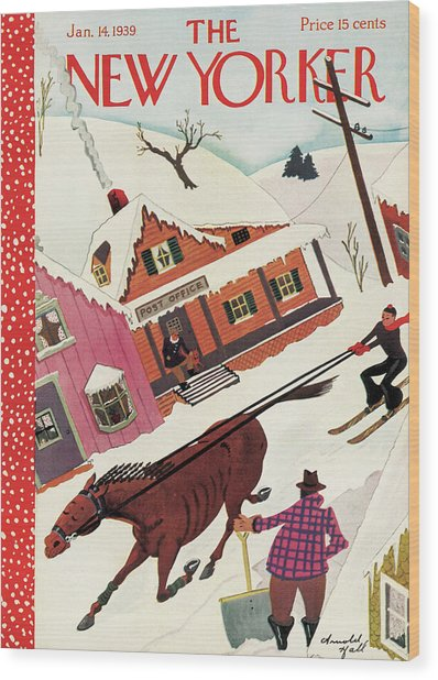 New Yorker January 14th, 1939 Wood Print by Arnold Hall