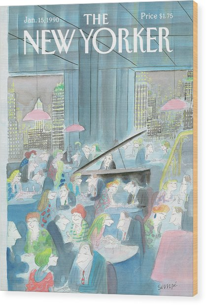 New Yorker January 15th, 1990 Wood Print