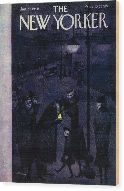 New Yorker January 20 1940 Wood Print
