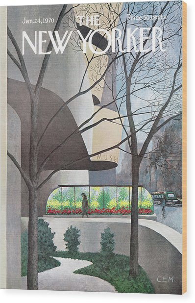 New Yorker January 24th, 1970 Wood Print