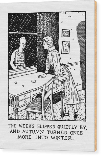 New Yorker January 27th, 1992 Wood Print