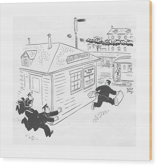 New Yorker January 29th, 1944 Wood Print by Robert J. Day