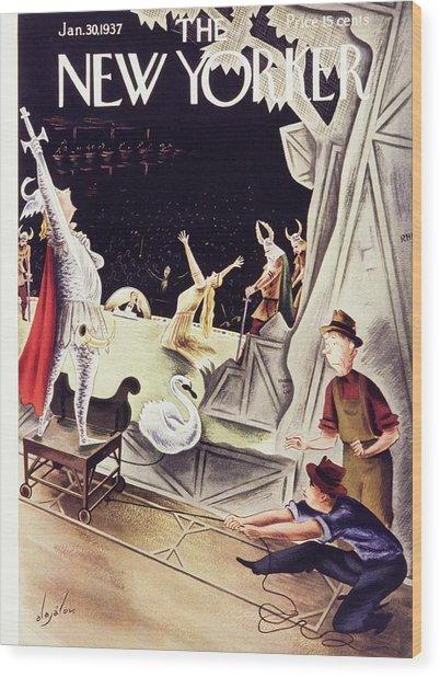 New Yorker January 30 1937 Wood Print