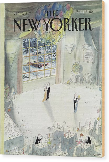 New Yorker January 5th, 1987 Wood Print