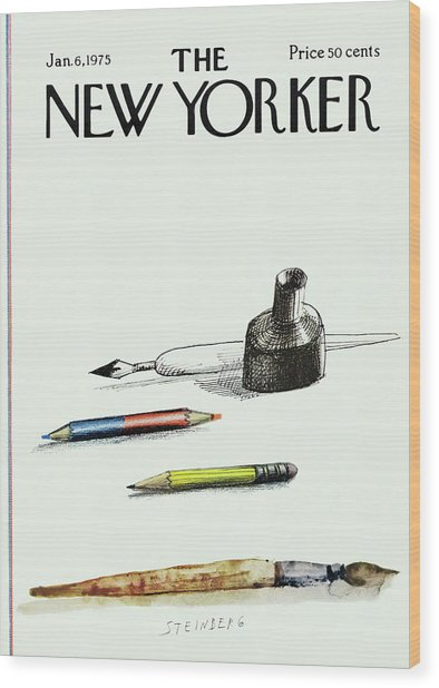 New Yorker January 6th, 1975 Wood Print