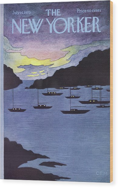 New Yorker July 14th, 1975 Wood Print