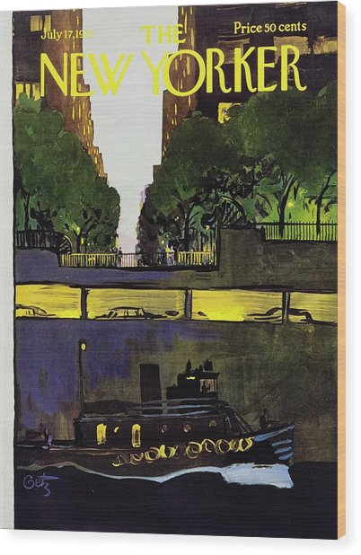 New Yorker July 17th 1971 Wood Print by Arthur Getz