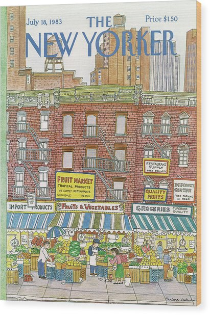 New Yorker July 18th, 1983 Wood Print