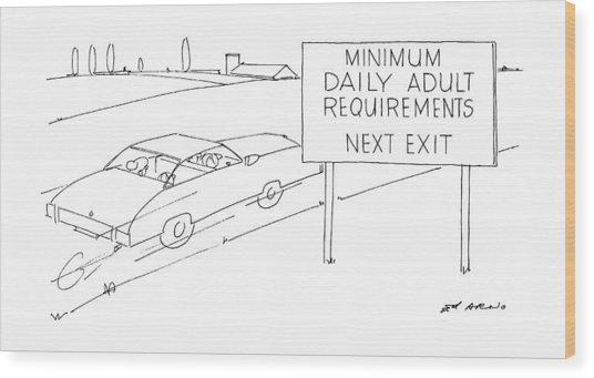 New Yorker July 21st, 1986 Wood Print