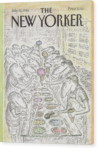 New Yorker July 22nd, 1985 Wood Print