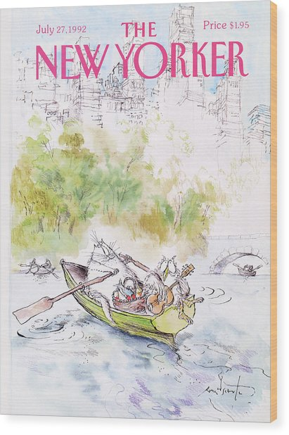 New Yorker July 27th, 1992 Wood Print