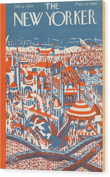 New Yorker July 4th, 1925 Wood Print
