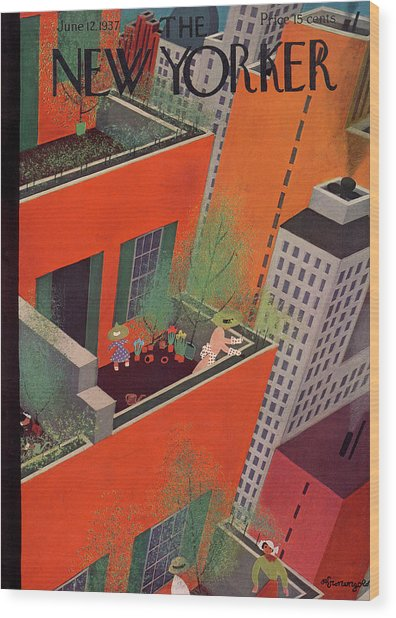 New Yorker June 12th, 1937 Wood Print