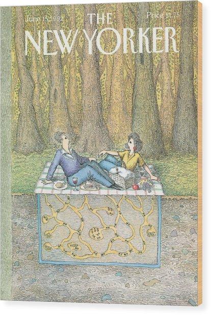 New Yorker June 15th, 1992 Wood Print