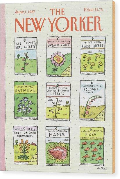 New Yorker June 1st, 1987 Wood Print