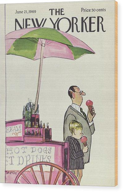 New Yorker June 21st, 1969 Wood Print