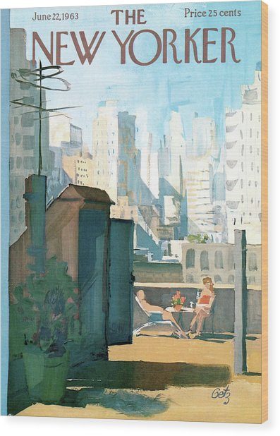 New Yorker June 22nd, 1963 Wood Print