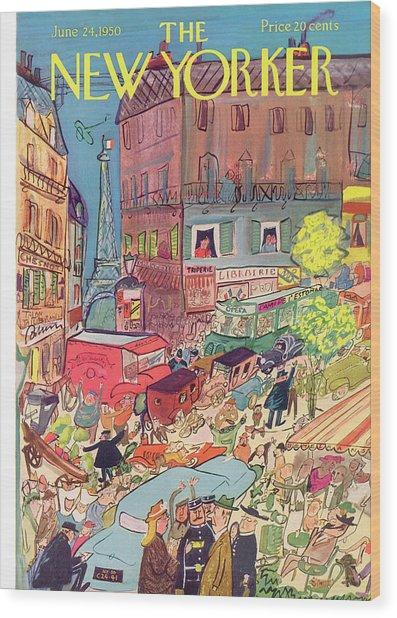 New Yorker June 24th, 1950 Wood Print