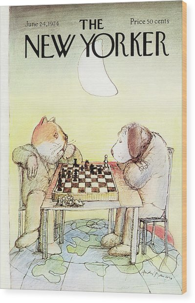 New Yorker June 24th, 1974 Wood Print by Andre Francois