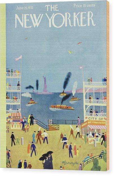 New Yorker June 25 1932 Wood Print