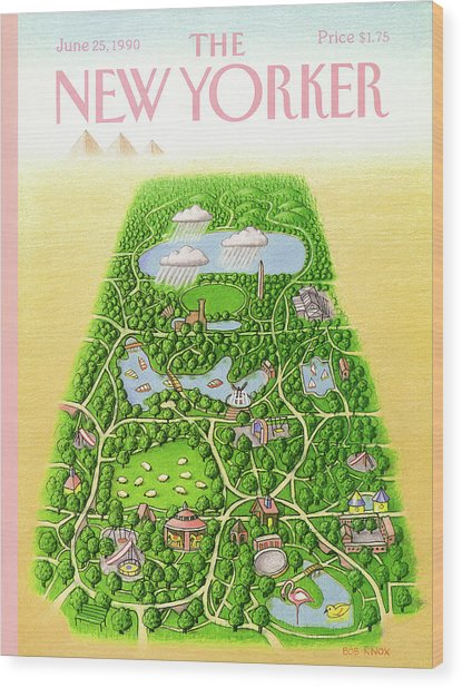New Yorker June 25th, 1990 Wood Print