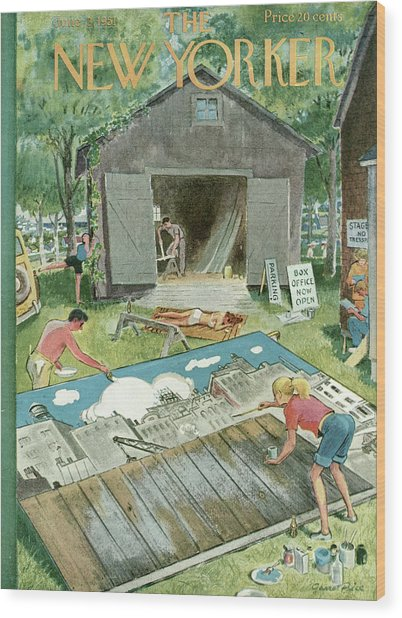 New Yorker June 2nd, 1951 Wood Print