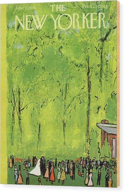 New Yorker June 7th, 1958 Wood Print