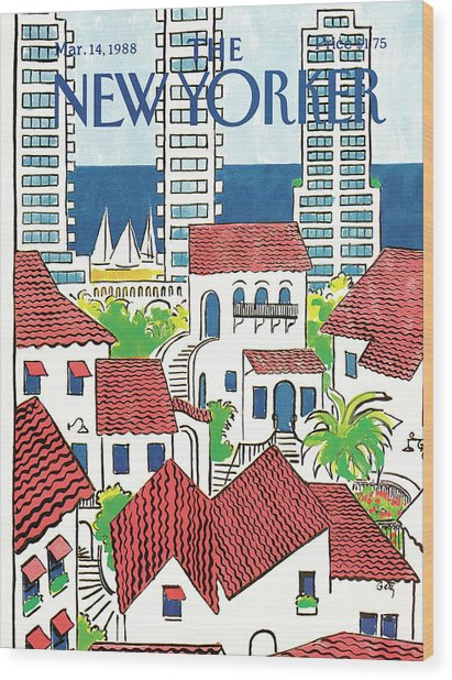 New Yorker March 14th, 1988 Wood Print