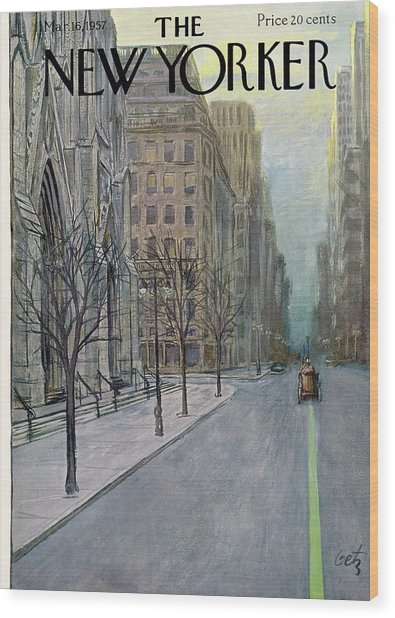 New Yorker March 16th, 1957 Wood Print