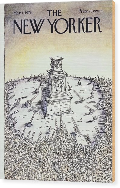 New Yorker March 1st 1976 Wood Print by Niculae Asciu