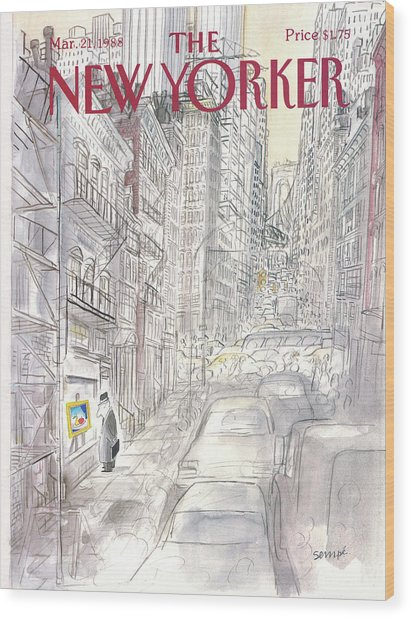 New Yorker March 21st, 1988 Wood Print