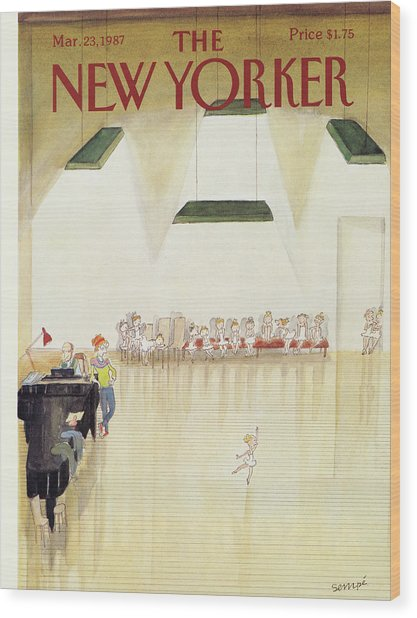 New Yorker March 23rd, 1987 Wood Print