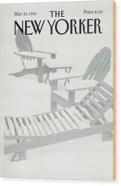New Yorker March 24th, 1986 Wood Print by Gretchen Dow Simpson