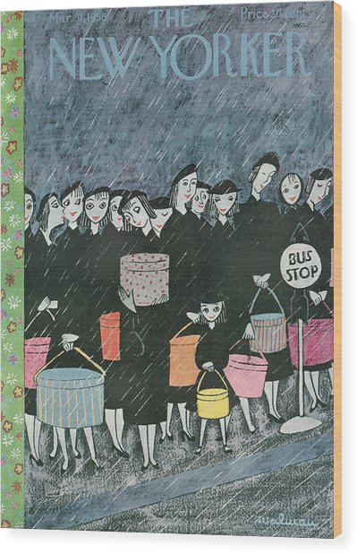 New Yorker March 31st, 1956 Wood Print