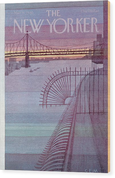 New Yorker March 31st, 1980 Wood Print
