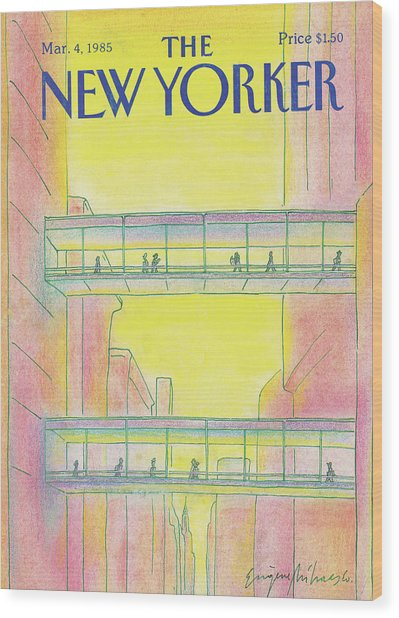 New Yorker March 4th, 1985 Wood Print