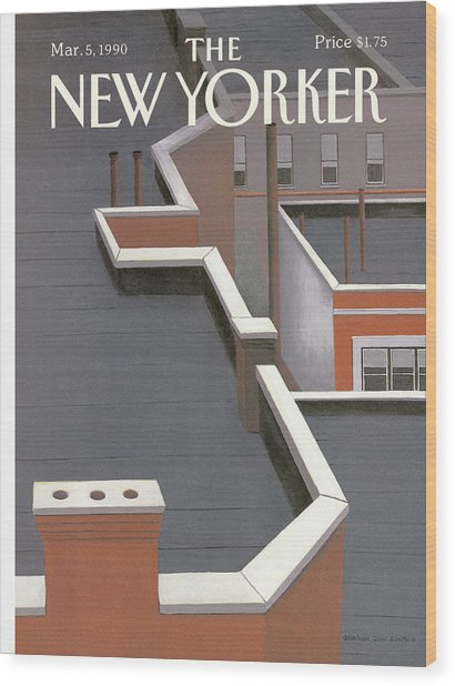 New Yorker March 5th, 1990 Wood Print