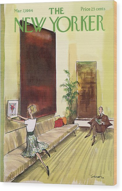 New Yorker March 7th, 1964 Wood Print