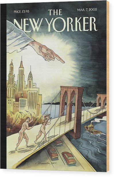 New Yorker March 7, 2005 Wood Print