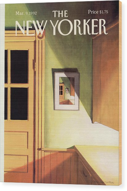New Yorker March 9th, 1992 Wood Print by Gretchen Dow Simpson