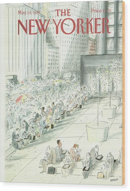 New Yorker May 18th, 1987 Wood Print