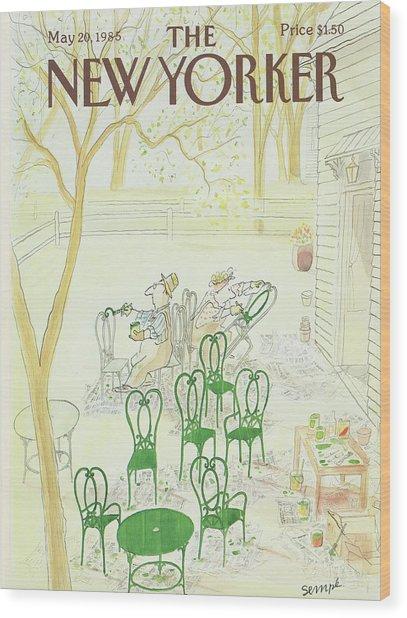 New Yorker May 20th, 1985 Wood Print