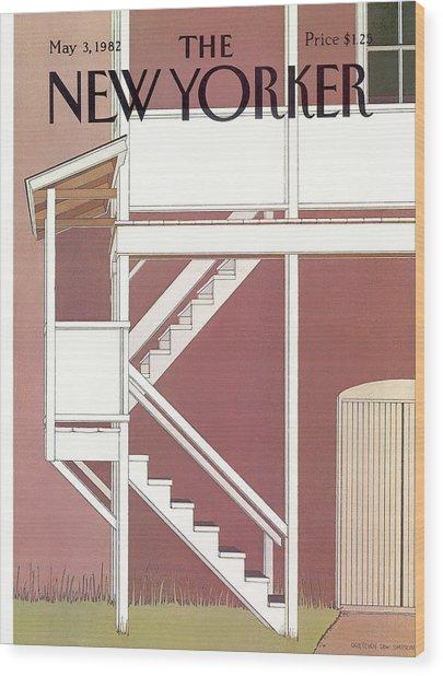 New Yorker May 3rd, 1982 Wood Print