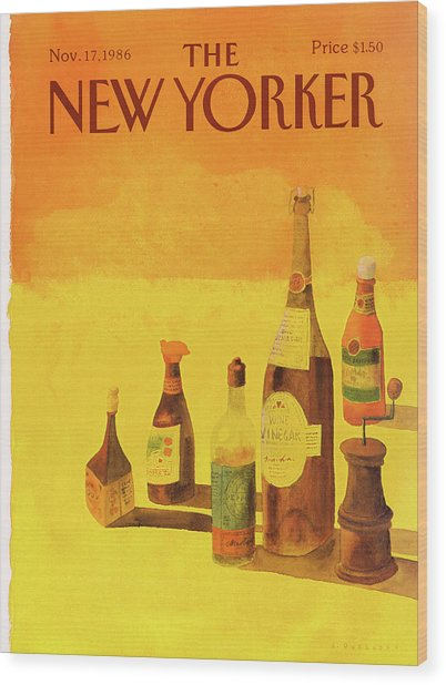 New Yorker November 17th, 1986 Wood Print