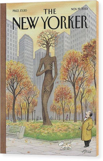 New Yorker November 19th, 2001 Wood Print