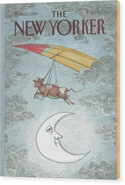 New Yorker November 21st, 1988 Wood Print