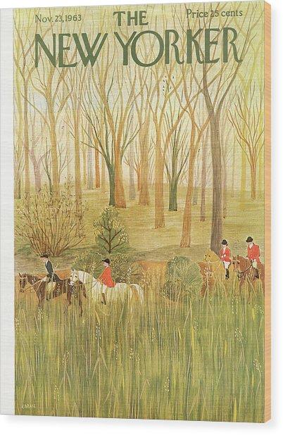 New Yorker November 23rd, 1963 Wood Print