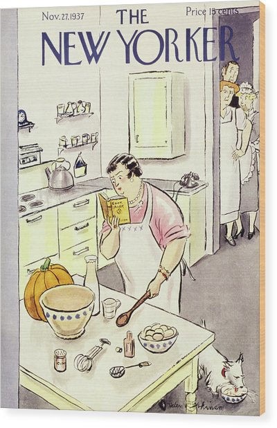 New Yorker November 27 1937 Wood Print
