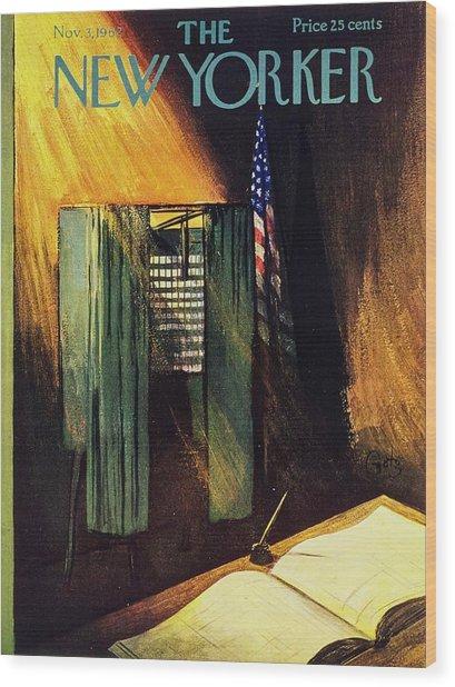New Yorker November 3rd 1962 Wood Print by Arthur Getz